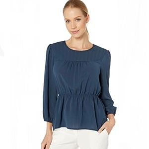 BCBG maxazria peplum blouse